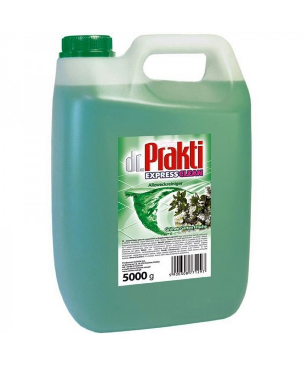 Detergenti si solutii de curatat - - Detergent multisuprafete Clovin Dr.Prakti - Green Garden 5L - arli.ro