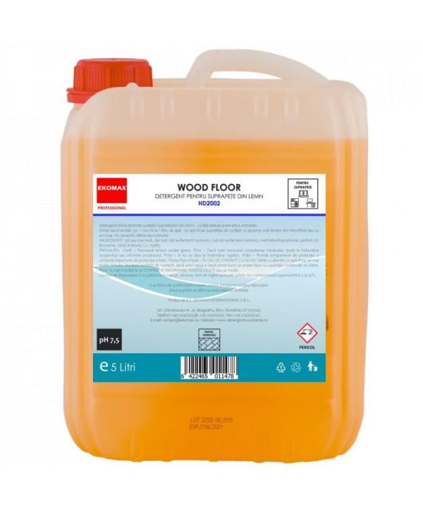 Detergenti si solutii de curatat - - Detergent pentru suprafete din lemn Wood Floor - Ekomax 5 litri - arli.ro