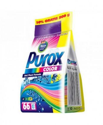 Detergenti si solutii de curatat - Detergent praf pentru rufe Purox Color - 5,5 Kg - arli.ro