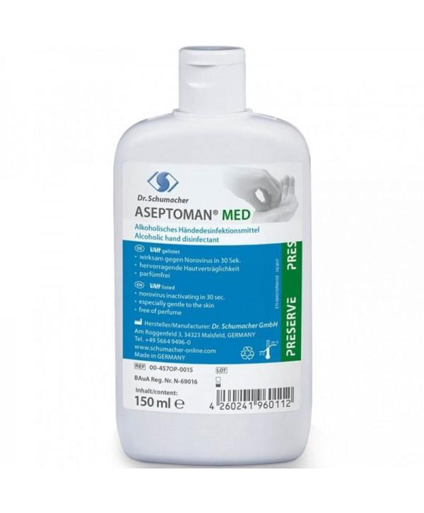 Dezinfectanti pentru maini - - Dezinfectant medical de nivel inalt pentru maini - Aseptoman Med - 150 ml - arli.ro