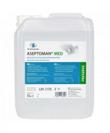 Dezinfectanti pentru maini - Dezinfectant medical de nivel inalt pentru maini - Aseptoman Med - 5 litri - arli.ro