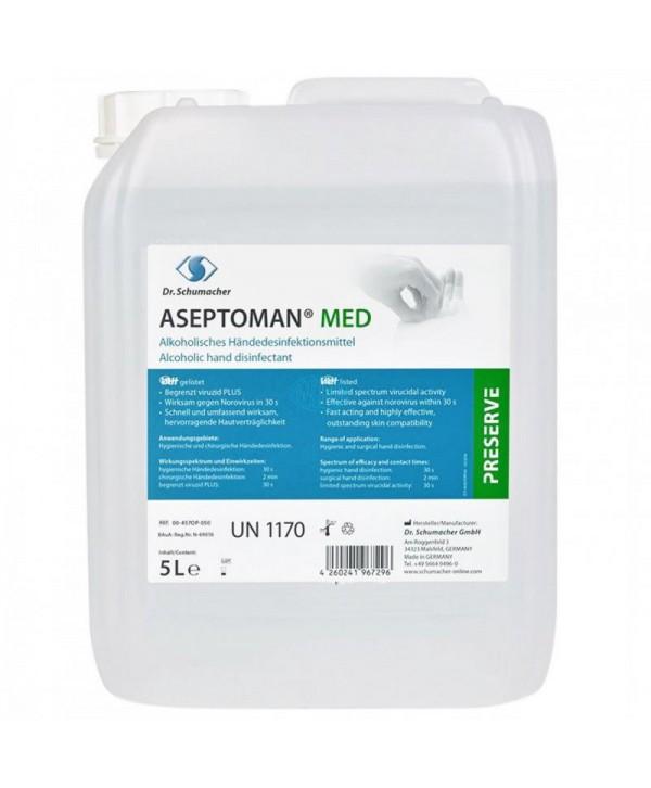 Dezinfectanti pentru maini - - Dezinfectant medical de nivel inalt pentru maini - Aseptoman Med - 5 litri - arli.ro