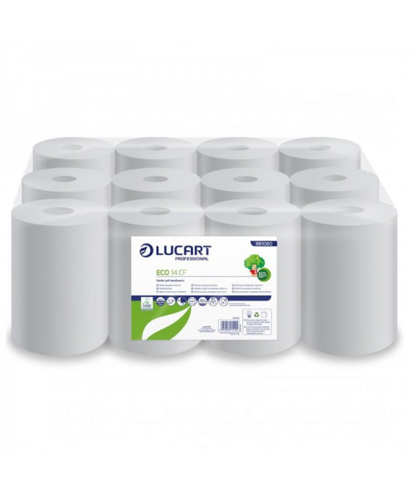 Consumabile din hartie - - Prosop de hartie Lucart Eco, reciclat, 55 metri - pachet 12 role - arli.ro