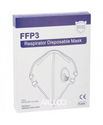 Masti, manusi, viziere - Masca de protectie FFP3 Mezorison, CE 0370, cutie cu 5 bucati - arli.ro