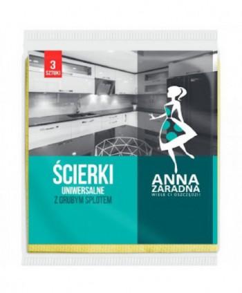Lavete profesionale - Lavete universale antibacteriene Anna Zaradna - 3 bucati - arli.ro