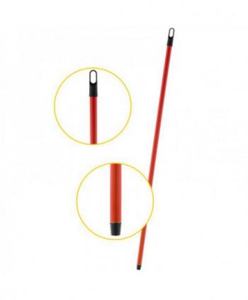 Materiale de curatenie - Coada metalica cu filet pentru matura sau mop, 110cm - Rosie - arli.ro