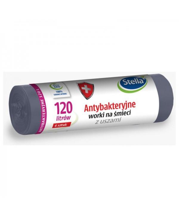 Saci menajeri - - Saci menajeri antibacterieni, gri, Stella - 120 litri - arli.ro