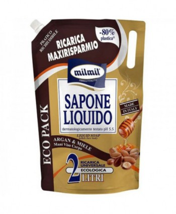 Consumabile (sapunuri, geluri, creme) - Sapun lichid argan si miere  milmil - 2 litri - arli.ro