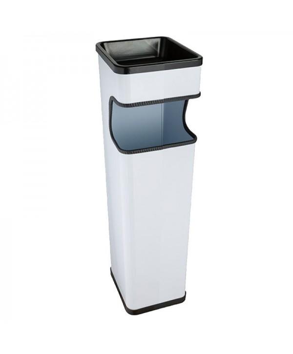 Cosuri gunoi cu scrumiera - - Scrumiera de exterior, alba - 20 litri - arli.ro