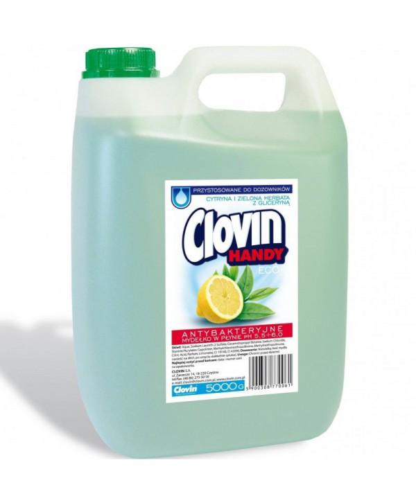 Consumabile (sapunuri, geluri, creme) - - Sapun lichid antibacterian - Clovin lamaie si ceai verde - 5 l - arli.ro