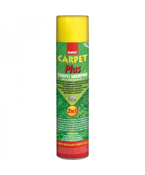 Detergenti si solutii de curatat - - Detergent Spray pentru covoare Sano Carpet Plus 2in1 - arli.ro