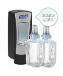 Dezinfectanti pentru maini - Dozator negru + 2 x Gel dezinfectant maini Purell ADX 1200ml - arli.ro