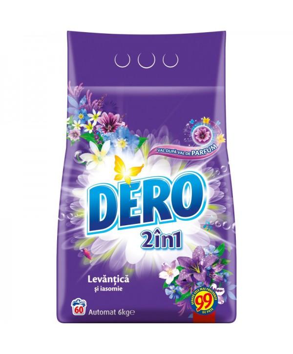 Detergenti si solutii de curatat - - Detergent praf pentru rufe Dero 2 in 1 Levantica si iasomie - 6 Kg - arli.ro