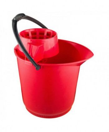 Materiale de curatenie - Galeata de curatenie cu storcator - rosie - arli.ro