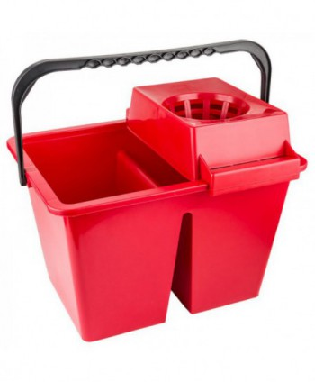 Materiale de curatenie - Galeata de curatenie dubla cu storcator - rosie - arli.ro