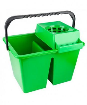 Materiale de curatenie - Galeata de curatenie dubla cu storcator - verde - arli.ro