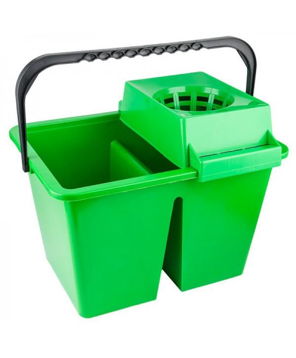 Materiale de curatenie - - Galeata de curatenie dubla cu storcator - verde - arli.ro