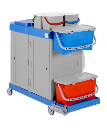 Produse de curatenie - Carucior de curatenie / dezinfectare pt mop medical plat - ArliPlus 33 - arli.ro