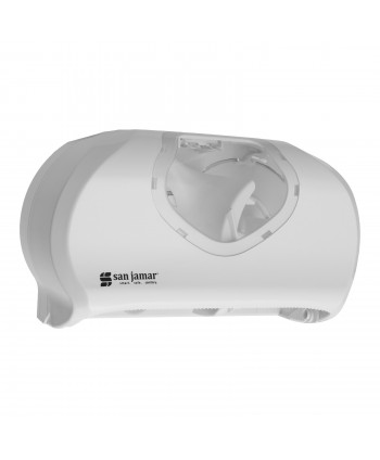 Acasa - Dispenser 2 role hartie igienica Jumbo, alb - San jamar - arli.ro