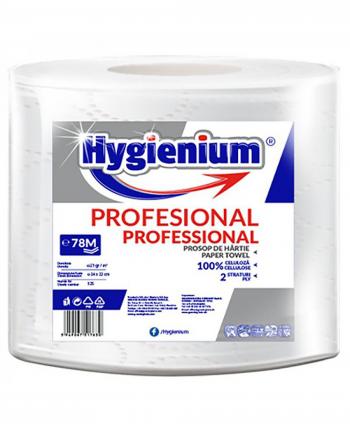 Consumabile din hartie - Prosop de hartie alba, celuloza 2 straturi, 78 m Hygienium - 1 rola - arli.ro