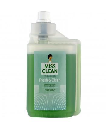 Detergenti si solutii de curatat - Detergent pardoseli concentrat, parfumat, Miss Clean 1 litru - arli.ro