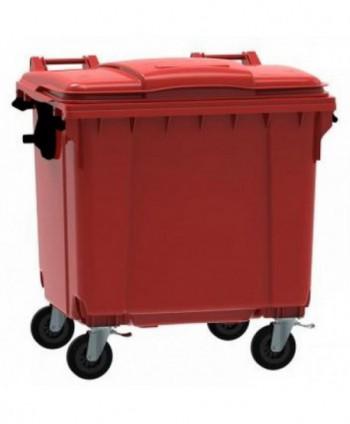 Cosuri gunoi stradale - Container de gunoi, ROSU - 1100 litri - arli.ro
