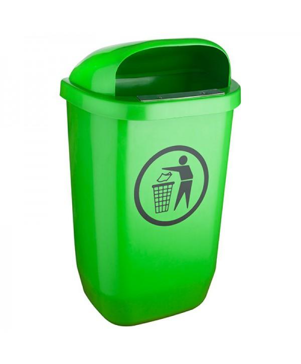 Cosuri gunoi stradale - - Cos de gunoi stradal VERDE - 50 litri - arli.ro