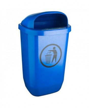Cosuri gunoi stradale - Cos de gunoi stradal ALBASTRU - 50 litri - arli.ro
