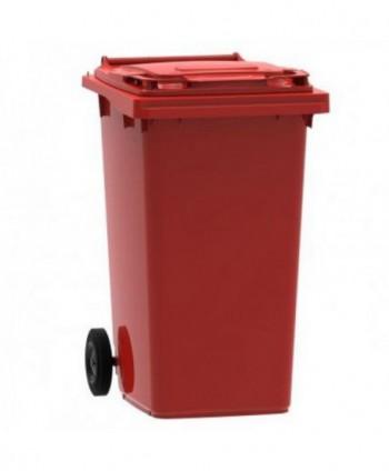 Cosuri gunoi stradale - Pubela de gunoi, ROSIE - 240 litri - arli.ro