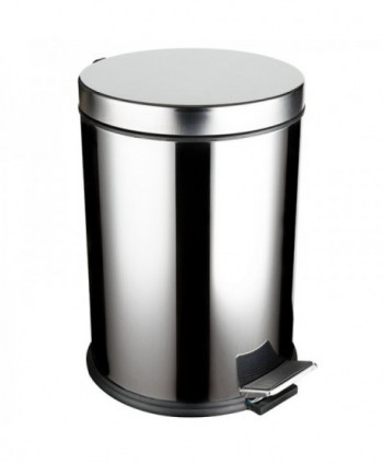 Cosuri si perii WC - Cos de gunoi din inox cu SOFT CLOSE - 12 litri - arli.ro