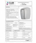 Uscatoare de maini medii - Uscator de maini, inox - Clar Systems Fast Dry - arli.ro