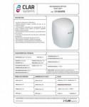 Uscatoare de maini medii - Uscator de maini, alb - Clar Systems Fast Dry - arli.ro